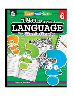 180 Days Of Language 7 Book Set